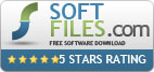 5 stars award from Soft-Files editors team, based on price, usability, documentation & support.