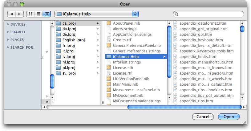 Select Help Folder